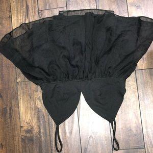 Black strap shirt